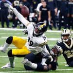 JuJu Smith-Schuster, Steelers vs Saints, JuJu Smith-Schuster fumble