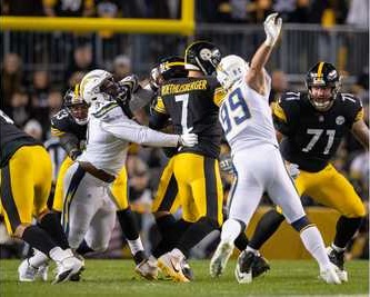 Ben Roethlisberger, Justin Jones, Joey Bose, Steelers vs Chargers