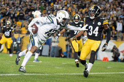 Terrell Edmunds, Keenan Allen, Steelers vs Chargers