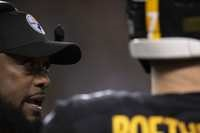 Mike Tomlin, Ben Roethlisberger, Steelers vs Chargers