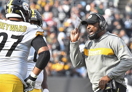 Mike Tomlin, Cam Heyward, Steelers vs Raiders