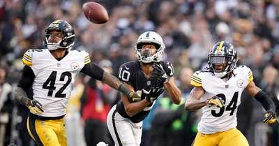 Seth Roberts, Terrell Edmunds, Morgan Burnett, Steelers vs Raiders