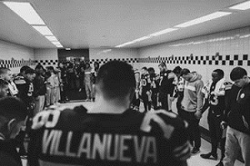 Steelers locker room, Alejandro Villanueva