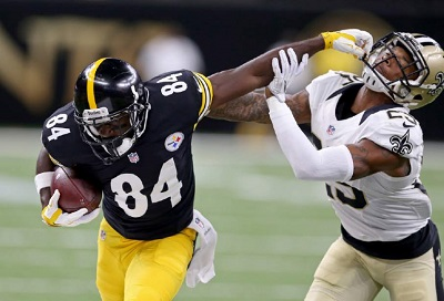 Steelers history vs Saints, Antonio Brown, P.J. Williams