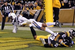 Keenan Allen touchdown Steelers, Joe Haden, Sean Davis, Steelers vs Chargers