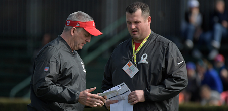 Mike Munchack, Shaun Sarrett, Steelers offensive line coaches