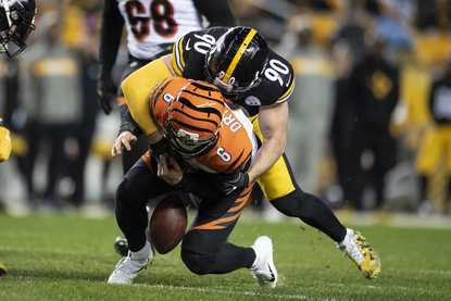 T.J. Watt, Jeff Driskel, Steelers vs Bengals