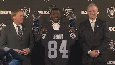 Antonio Brown, Antonio Brown Raiders, Mark Davis, Jon Gruden