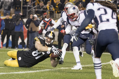 Jesse James, Jesse James Patriots touchdown