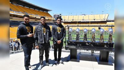 Devin Bush, Diontae Johnson, Justin Layne, Steelers 2019 Draft Class, Steelers Lombardi Trophies