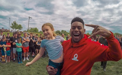 JuJu Smith-Schuster, JuJu Smith-Schuster water ballon fight