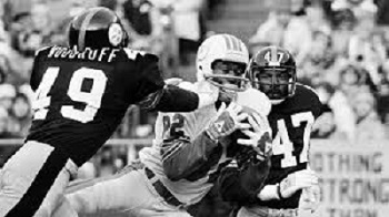 Dwayne Woodruff, Mel Blount, Steelers vs Dolphins