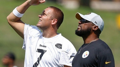 Mike Tomlin, Ben Roethlisberger, St. Vincents, St. Vincent's, Steelers training camp, Latrobe