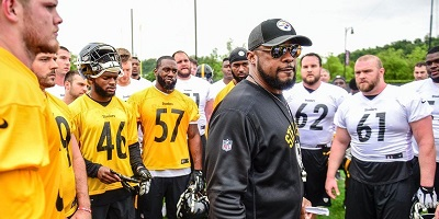 Mike Tomlin, Steelers training camp, St. Vincents