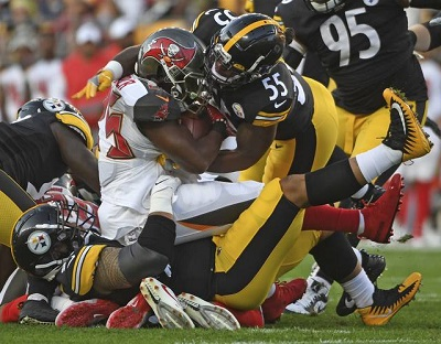 Devin Bush Jr., Steelers preseason debut, Peyton Barber