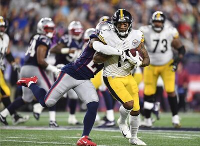 Donte Moncreif, Donte Moncrief Steelers debut, steelers vs patriots