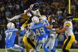 Cam Sutton, Cam Sutton onsides kick recovery, Steelers vs Chargers