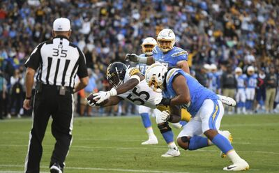 Devin Bush, Devin Bush touchdown, Steelers vs Chargers