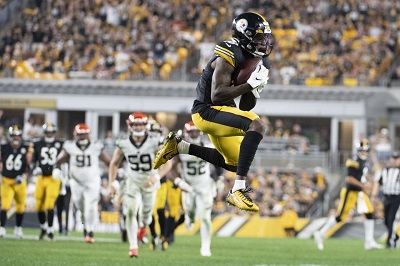 Diontae Johnson, Steelers vs Bengals, Steelers Bengals Monday Night Football 2019