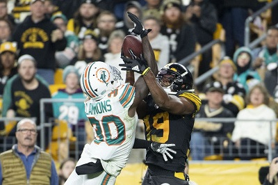 JuJu Smith-Schuster, Chris Lammons, Steelers vs Dolphins MNF