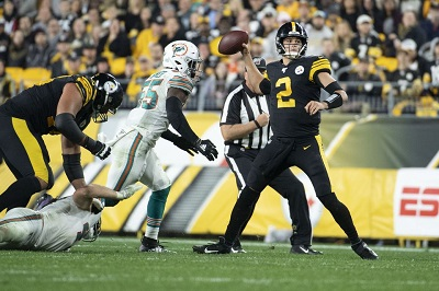 Mason Rudolph, Steelers vs Dolphins,