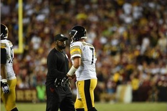 Mike Tomlin, Ben Roethlisberger, Steelers vs Redskins, FedEx Field 2016