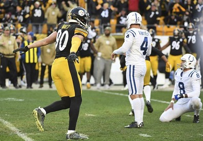 Adam Vinatieri, T.J. Watt, Steelers vs Colts, Adam Vinatieri miss Heinz Field