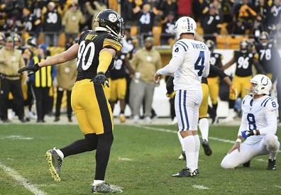 Adam Vinatieri, T.J. Watt, Steelers vs Colts, Adam Vinatieri miss Heinz Field