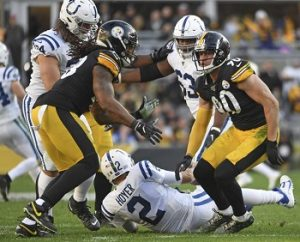T.J. Watt, Bud Dupree, Brian Hoyer sack, Steelers vs Colts