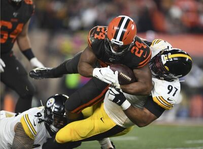 Cameron Heyward, Cam Heyward, Nick Chubb, Tyson Alualu, Steelers vs Browns