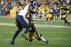 Steven Nelson, Gerald Everett, Steelers vs Rams