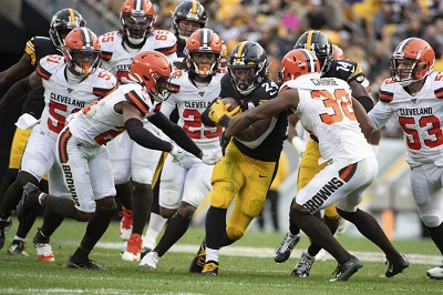 Benny Snell, Steelers vs Browns