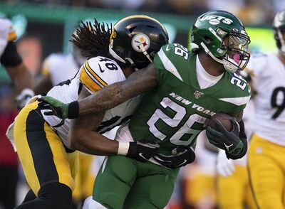 Bud Dupree, Le'Veon Bell, Steelers vs Jets
