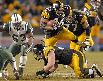 Jerome Bettis, Alan Faneca, Dewayne Robertson, Steelers vs Jets, Steelers history vs Jets