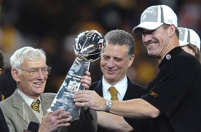 Bill Cowher, Dan Rooney, Art Rooney II, Steelers vs Seahwaks, Super Bowl XL