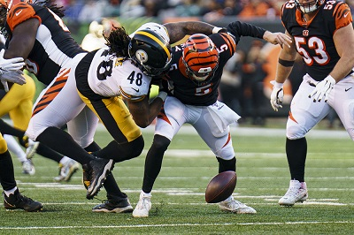 Bud Dupree, Ryan Finley, Steelers vs Bengals