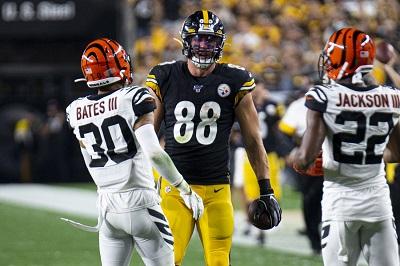 Nick Vannett, Steelers vs Benglas
