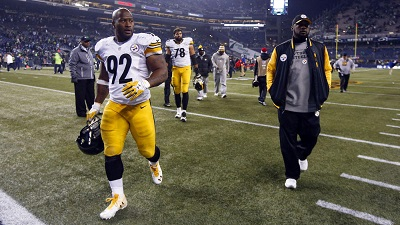 James Harrison, Mike Tomlin, Feud, Steelers vs Seahawks