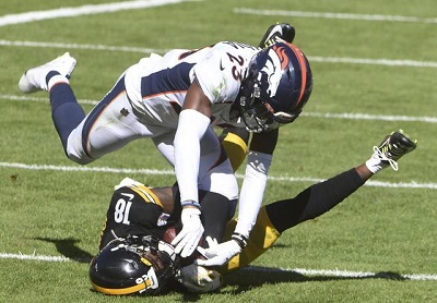 Diontae Johnson, Michael Ojemudia, Steelers vs Broncos