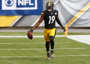 JuJu Smith-Schuster, Steelers vs Texans, JuJu walk off touchdown