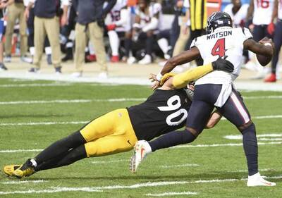 T.J. Watt, Deshaun Watson, Steelers vs Texans