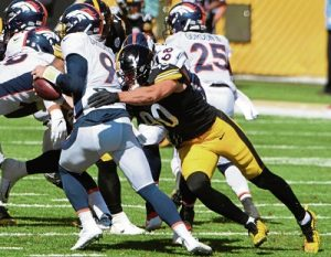 T.J. Watt, Jeff Driskel, Steelers vs Broncos