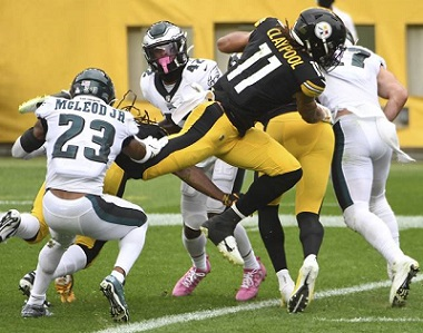 Chase Claypool, Chase Claypool 4 touchdowns, Steelers vs Eagles