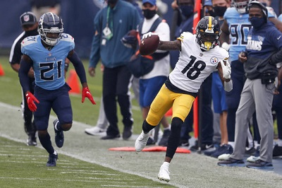 Diontae Johnson, Malcolm Butler, Steelers vs Titans
