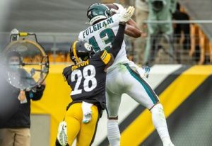 Travis Fulgham, Mike Hilton, Steelers vs Eagles