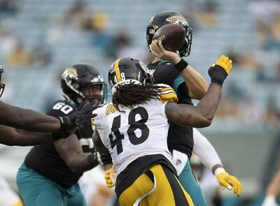 Bud Dupree, Jake Luton, Steelers vs Jaguars