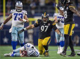 Cameron Heyward, Cam Heyward, Garrett Gilbert, Steelers vs Cowbosy