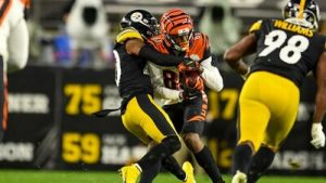 Cam Sutton, Tee Higgins, Vince Williams, Steelers vs Bengals