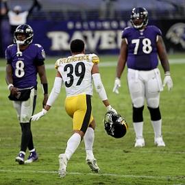 Minkah Fitzpatrick, Lamarr Jackson, Steelers vs Ravens