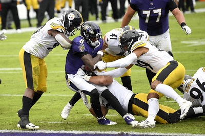 Isaiah Buggs, Lamarr Jackson, Robert Spliane, Steelers vs Ravens